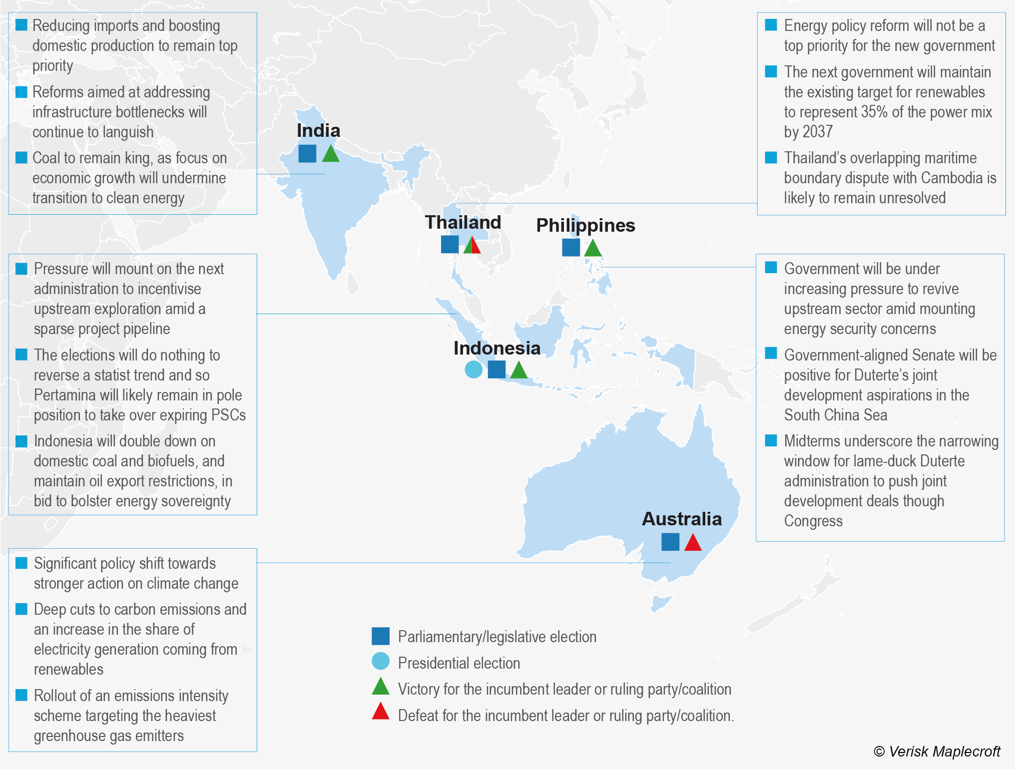 Asia Pacific elections: Implications for the energy sector