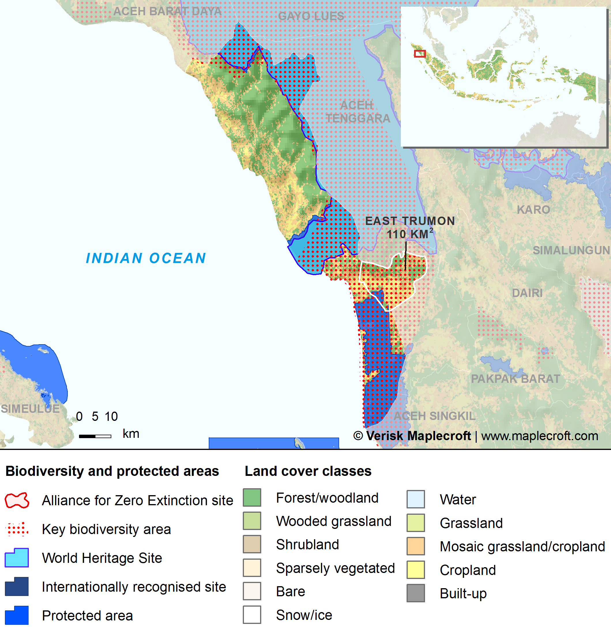 South Aceh Regency - Key biodiversity areas in South Aceh